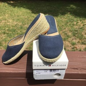 Blue Tommy Hilfiger mules
